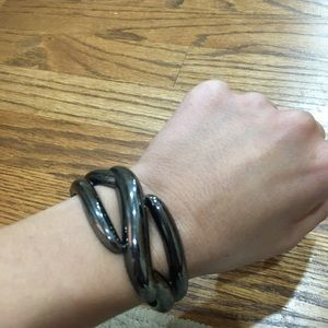 5 for $25 Gunmetal cuff bracelet